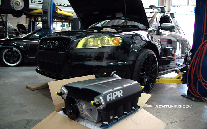 APR Supercharger Kit Install on Audi RS4 - Achtuning